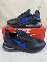 "New GS Nike Air Max 270 ""Just Do It"" Black Royal Size 6Y / 7.5W CT6016-001 - $133.60"