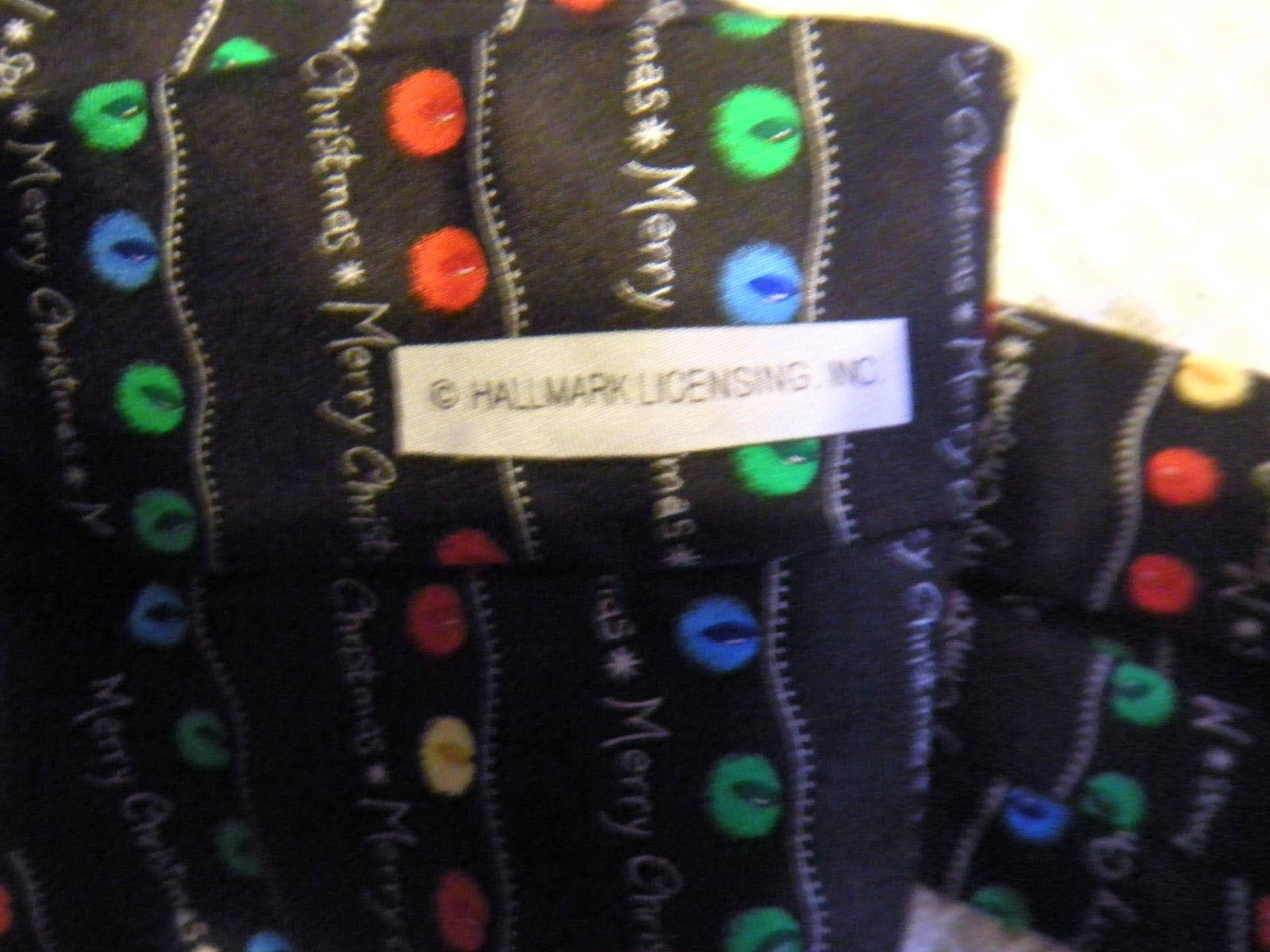 "HOLIDAY TRADITIONS Hallmark Christmas Tree Lights Tie 100% Silk Multicolor 4"""