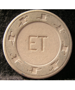 """$0.25 Casino Chip From: """"E T"""" Niles Point Card Room - (sku#2931) - $2.39"""