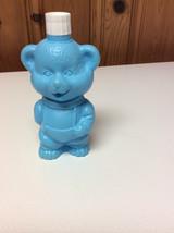 Vintage ?? Plastic Bubble Bath Blue  Bear Shaped Bottle & Bubble Blower ... - $12.99