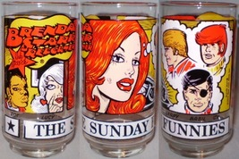The Sunday Funnies Glass Brenda Starr Reporter - $8.00