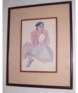 R.C GORMAN NATIVE NAVAJO INDIAN WOMAN FRAMED PRINT - $191.64