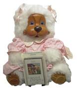Bear Robert Raikes Liza Plush Animal Stuffed Beautiful Hand Carved Wood ... - $99.99