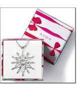 Sparkling snowflake necklace thumbtall
