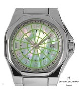 $695 OFFICINA DEL TEMPO MADE IN ITALY MOTHER OF PEARL DATE STAINLESS STE... - $489.99