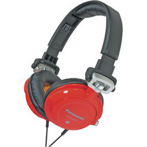 PANASONIC DJ Street Bass Headphones w/ Fold & Swivel (Great for Travel)-Red - $65.43 CAD
