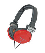 PANASONIC DJ Street Bass Headphones w/ Fold & Swivel (Great for Travel)-Red - £36.26 GBP