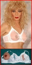 Sheer Cup Pocket Bra For Silicone Breast Forms! Crossdressing, See Through! - $39.99