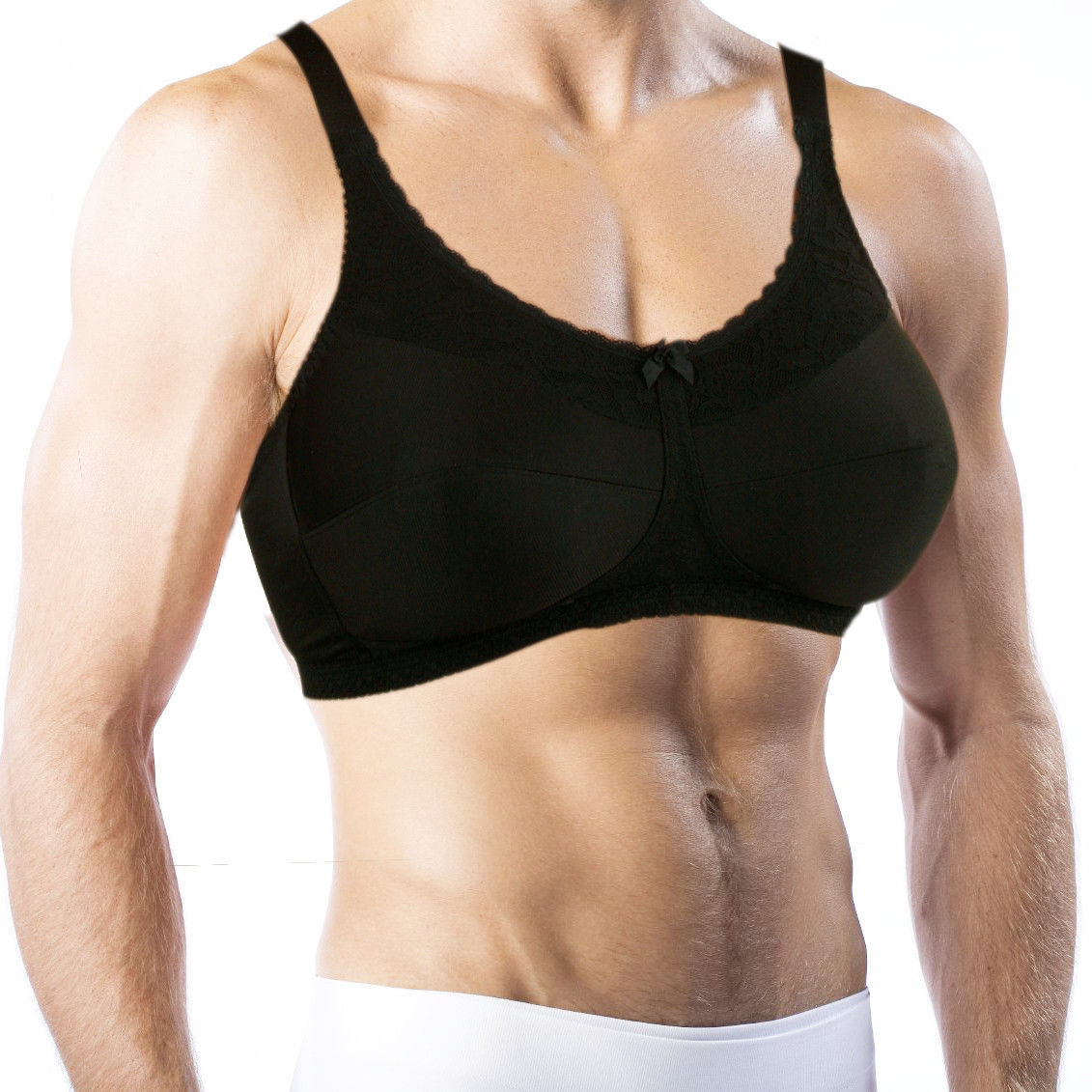 Bra For Men. Holds Silicone Breast Forms! Crossdressing, Transgender #770 - $39.99