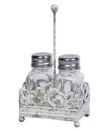 Creative Co-Op DE5795 3 Piece Glass Salt & Pepper Shakers in Metal Caddy - $12.82