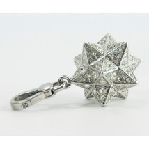 Juicy Couture Silver Crystal Large Moroccan Star FULL SIZE Bracelet Charm RARE image 2