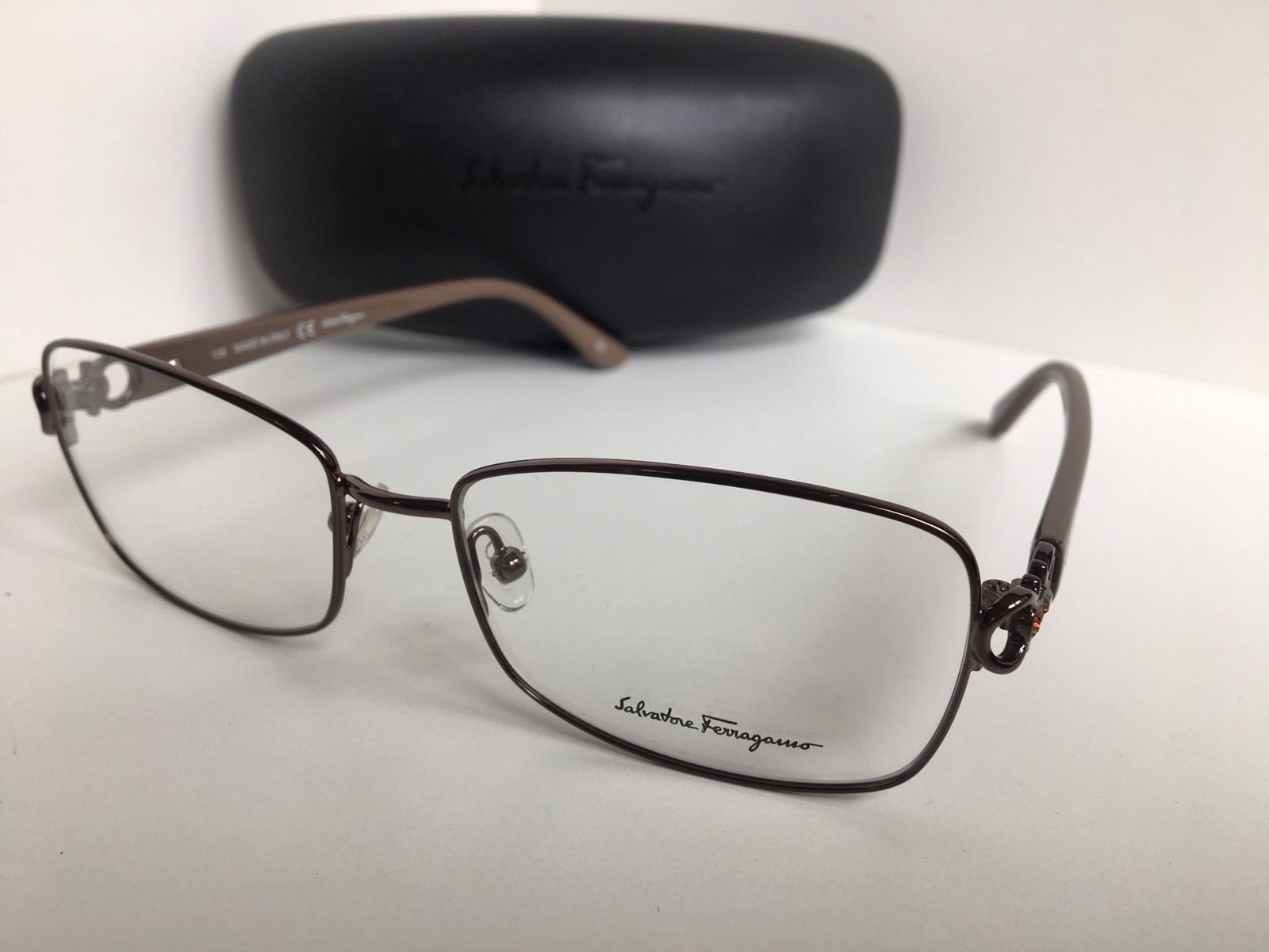 a7ea92d23b New Salvatore Ferragamo SF 2105R SF2105R 210 54mm Shiny Brown Eyeglasses
