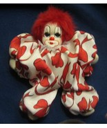 "Q-Tee Handmade and Painted Clown 7"" Porcelain With Tag - $15.99"