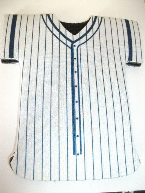 New york yankees at t mini jersey team shirt bottle for Shirts and apparel koozie