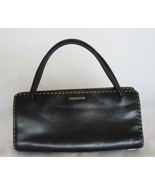 $1300 AUTH Gucci black leather handbag w/ contr... - $194.95