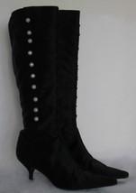 $1400+ AUTH Oscar de la Renta black dressy knee-high boots 41.0 *GORGEOUS* - $174.95