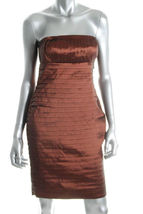 $148 CK bronze strapless tiered dress 6 NWT - $44.95