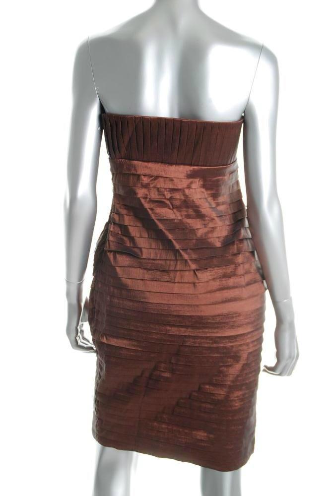 $148 CK bronze strapless tiered dress 6 NWT