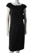 $148 Jax black-on-black patterned dress 4 NWT - $34.95