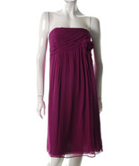 $178 Suzi Chin strapless mulberry flowing silk ... - $54.95