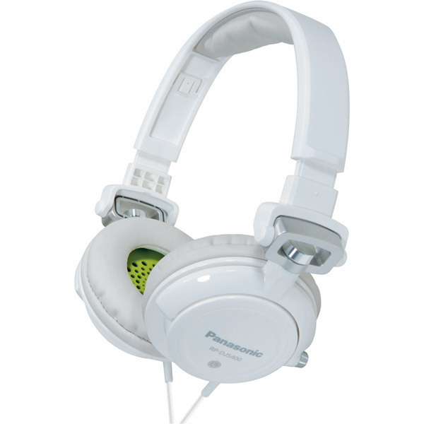 PANASONIC DJ Street Bass Headphones w/ Fold & Swivel**WHITE**NEW IN BOX**4 LEFT!