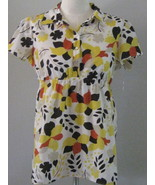 Style & Co Multicolored Short Sleeve Smock Top ... - $12.00