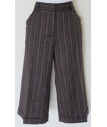 $298 Diane von Furstenberg brown striped wide-l... - $54.95