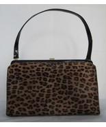 $2K!!! AUTH Lambertson Truex pony leopard/patent shoulder bag - $294.95