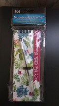 """Hard cover notepad 7""""x 3"""" Jot """"its the little things in life"""" with pen i... - $5.45"""