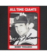 Bobby Thomson autograph signed TCMA card Giants - $9.99