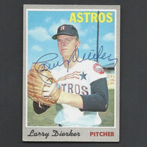 LARRY DIERKER SIGNED AUTO AUTOGRAPH 1970 TOPPS CARD #15 NICE!! - $6.99