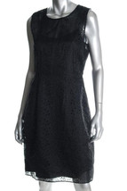 $448 Elie Tahari black silk eyelet dress 10 NWT - $99.95