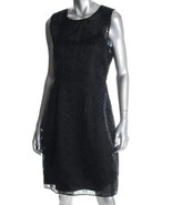$448 Elie Tahari black silk eyelet dress 10 NWT - $124.95