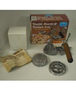 Vtg Double Rosette & Timbale Iron NORDIC WARE Baking Molds  - $9.99