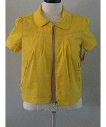 Style & Co Yellow Short Sleeve Zipper Jacket To... - $27.00