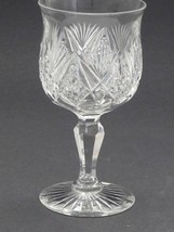 American Brilliant Period Cut Glass water  goblet Antique Crystal abp - $64.23