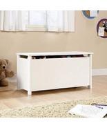 White Wood Toy Chest Storage Trunk Kids Box w Lidstay Blanket Home Furni... - $89.99