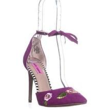 Betsey Johnson Women Ankle Strap Heels Abbie Size US 9.5 Magenta - $49.94