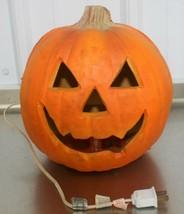 Vintage 93 TRENDMASTERS Pumpkin Halloween Light Up Foam Blow Mold Jack-O... - $27.71