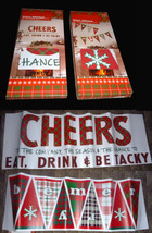 Holiday Wall Decals Eat Drink & Be Tacky-Be Merry-Pennant-Party Christma... - $14.82