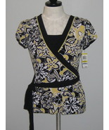 Style & Co Floral Pattern Crossover Tie Top Siz... - $19.00