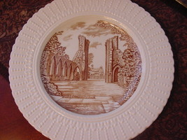 "Royal Cauldon England Glastonbury Abbey Plate, 9 3/4"", brown/ivory - $12.00"