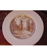 "Royal Cauldon England Glastonbury Abbey Plate, 9 3/4"", brown/ivory - $11.00"