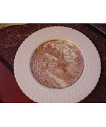"Royal Cauldon England Thames Boat House Plate, 9 3/4"", brown/ivory - $13.00"