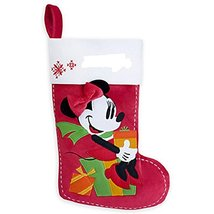 Disney Store Minnie Mouse Christmas Stocking Plush Red Decorated 2015 - $52.95
