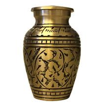 Gold Leaves Small Keepsake Urn for Ashes, Cremation Urn UK - $42.00