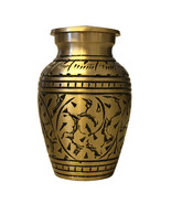 Gold Leaves Small Keepsake Urn for Ashes, Cremation Urn UK - $34.99