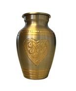 Embossed Heart Design Small Keepsake Urn, Memorial Cremation Urn Ashes - $42.00