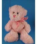 """Pink Ribbon Breast Cancer Teddy Bear Shaggy Plush Very Soft & Cuddly 10""""... - $9.94"""