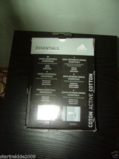 6 Pairs Adidas Essentials Climalite Cotton Boxers, 2 colors,Sz. Sm(US )